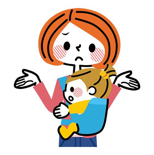女性と子供イラスト